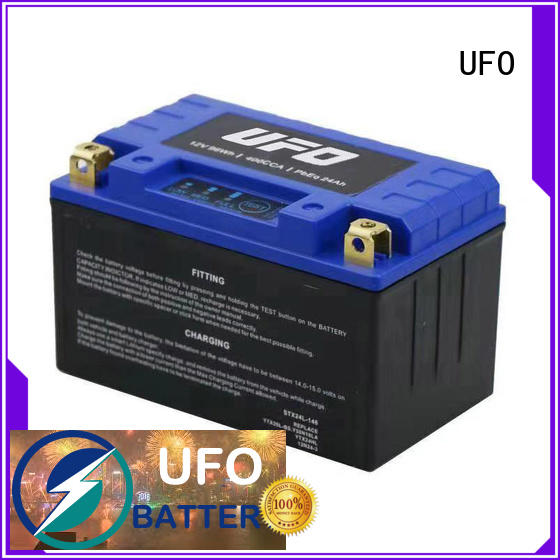 UFO motorcycle lithium starter battery factory for electric cars