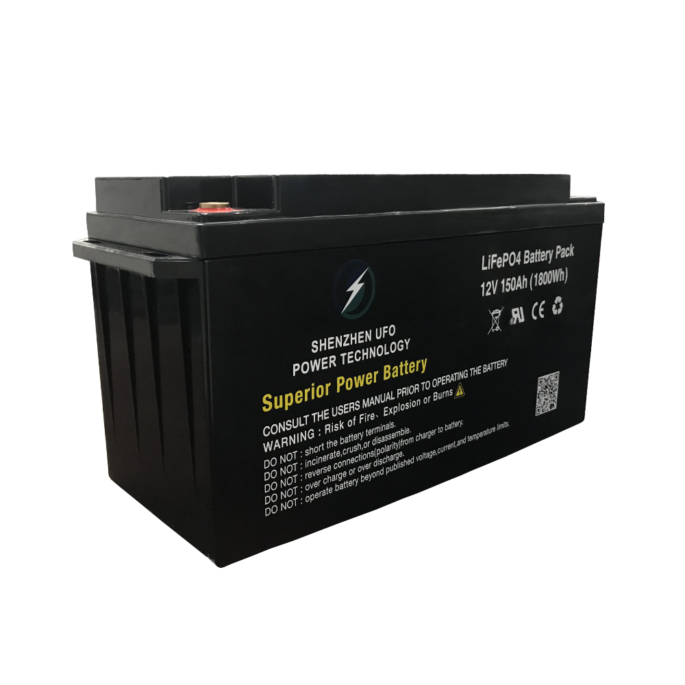 UFO 128v150ah lifepo4 battery pack for business for solar system Gel battery replacement-1