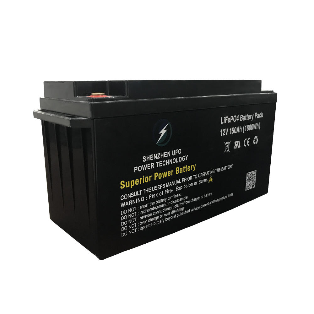 UFO High-quality 12 volt lifepo4 battery factory for solar system Gel battery replacement