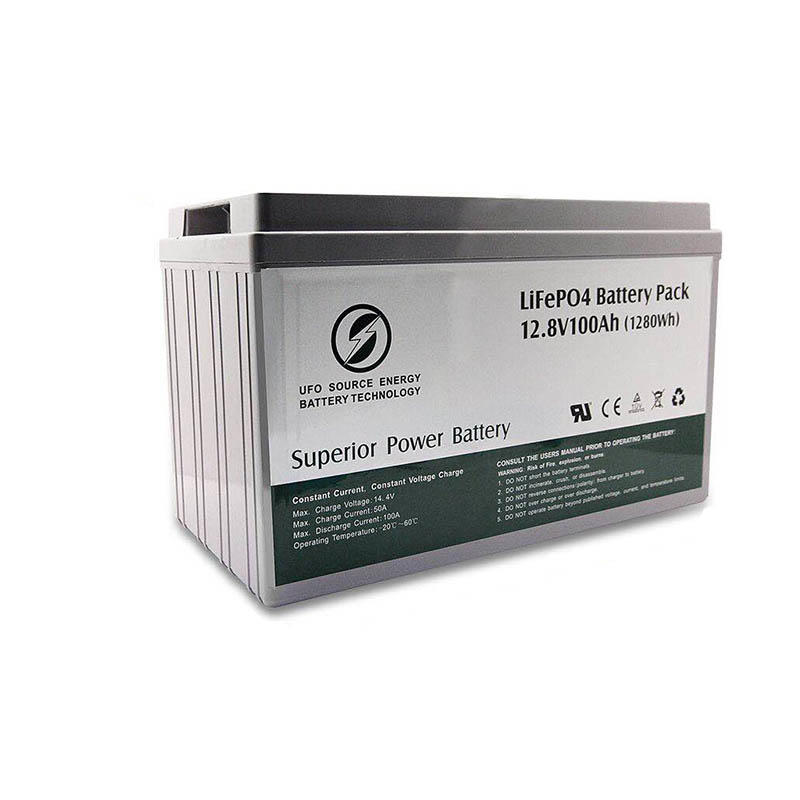 Lithium LiFePO4 battery pack 12.8V100Ah for solar power system Gel battery replacement