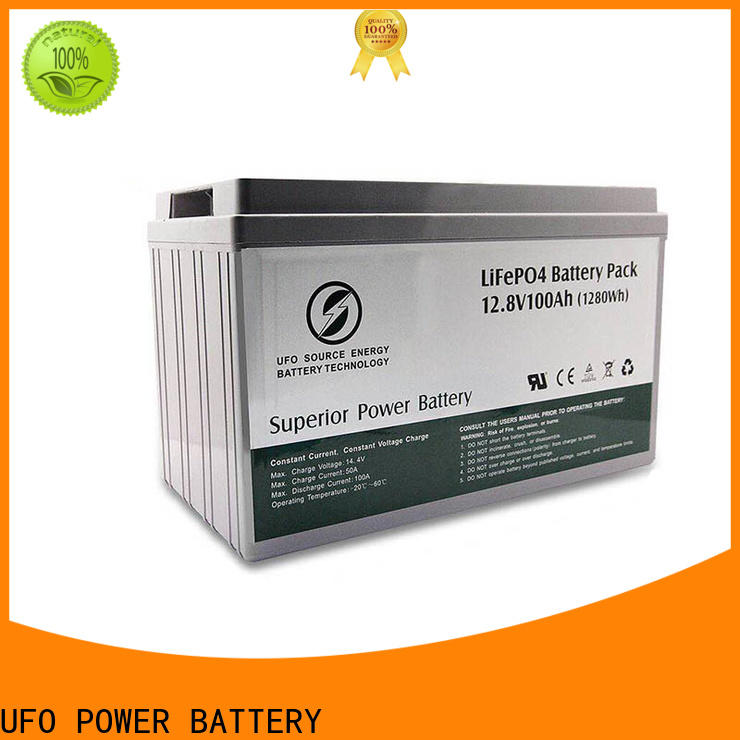 UFO 128v150ah lifepo4 battery pack for business for solar system Gel battery replacement