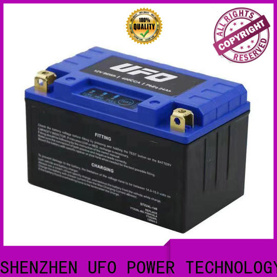 UFO Custom motorcycle starter battery factory for sale