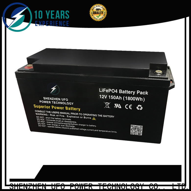 UFO Top lifepo4 lithium ion battery factory for alarm