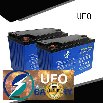 UFO superior quality 12 volt lifepo4 battery with stable chemical properties for alarm