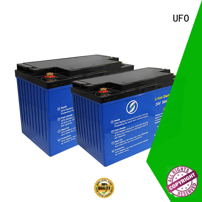 UFO Best 24v lifepo4 battery supply for solar system Gel battery replacement