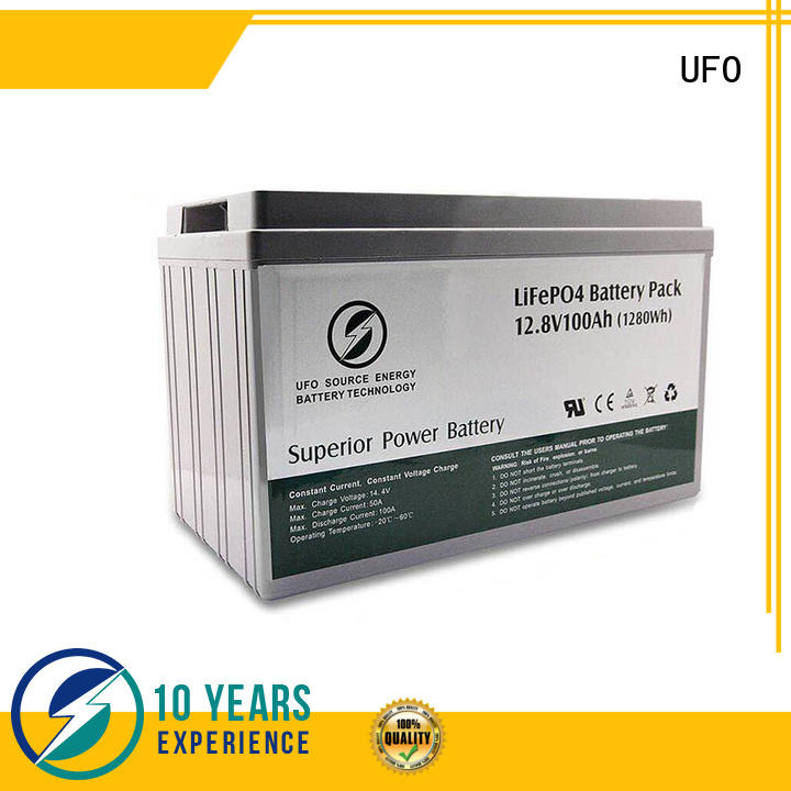 UFO 128v100ah lifepo4 lithium battery company for sale