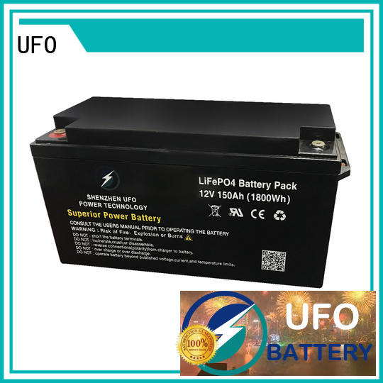 UFO New 12 volt lifepo4 battery for business for alarm