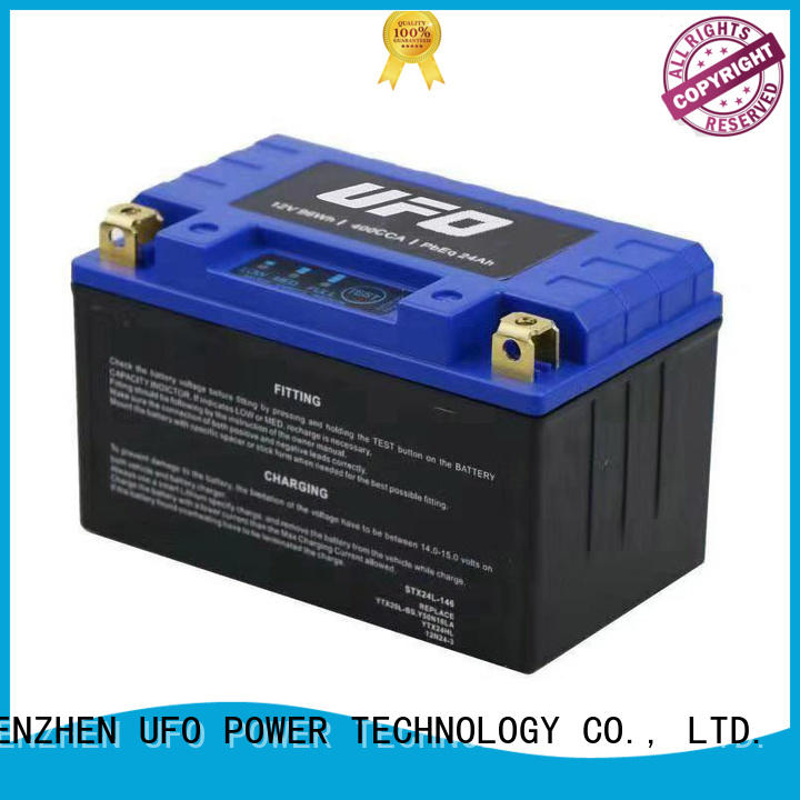 motorcycle starter battery with discharge voltage balance UFO