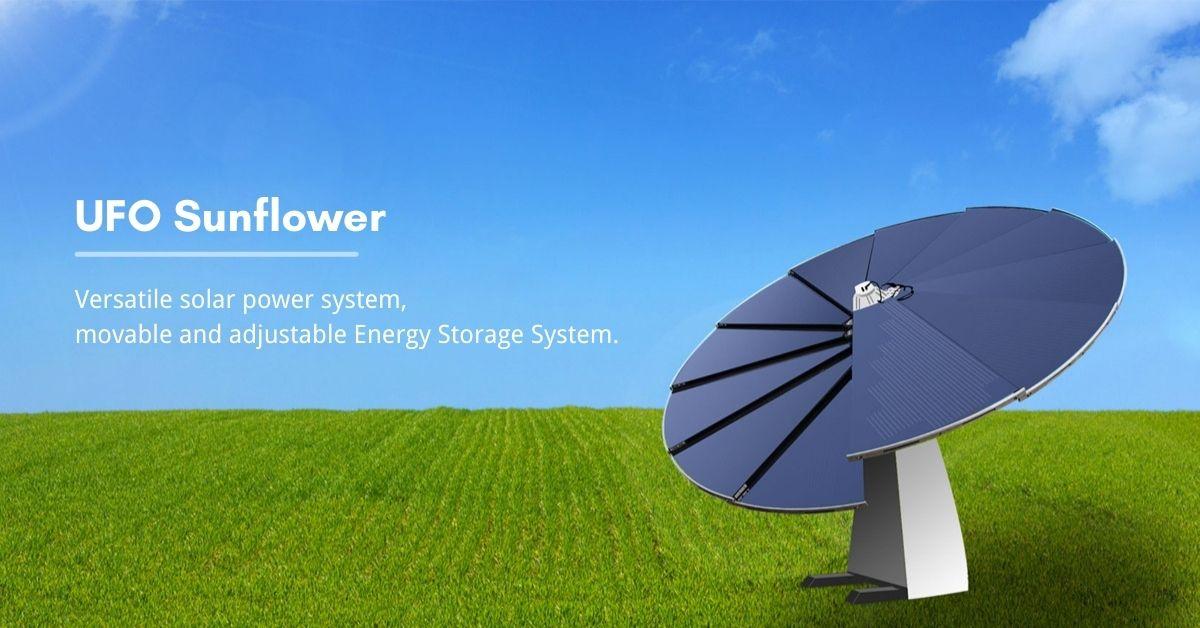 banner for Sunflower solar power system