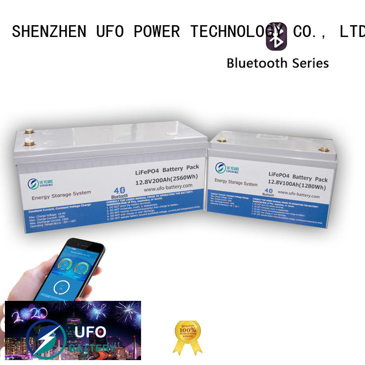 UFO bluetooth lifepo4 lithium battery company for solar system Gel battery replacement