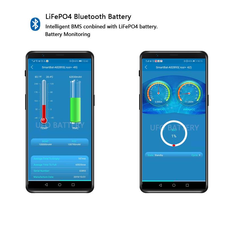 LiFePO4 Battery with Bluetooth | 12V 100Ah | 12V 200Ah
