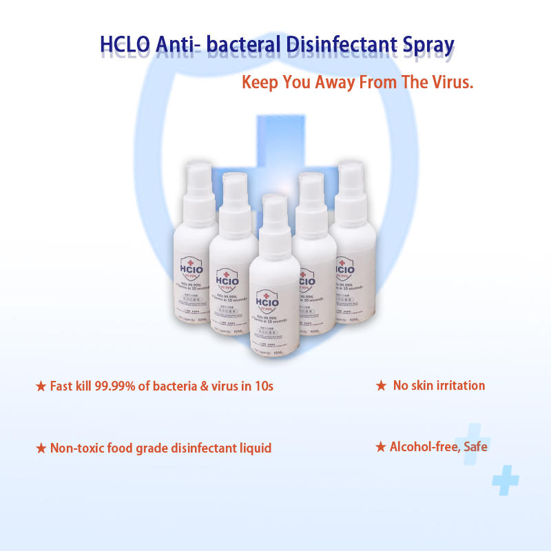 Clean Anti-Bacterial Disinfectant Spray | Hygiene Hand sanitizer | 60ml/500ml