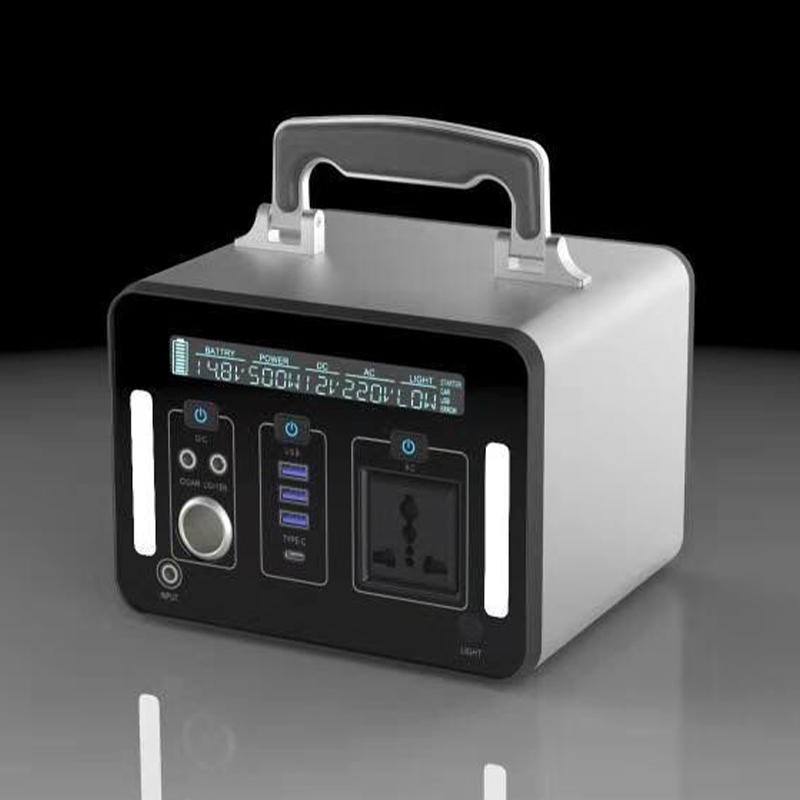 Portable Lithium Power Station | Portable Power Generator 500Wh | Outdoor Power| Emergency Backup Battery