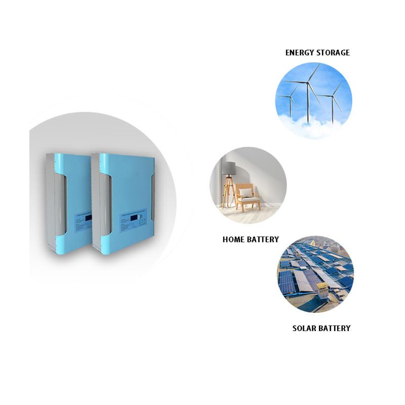48V 200Ah LiFePO4 Power Wall Battery | Solar Battery | Backup Power | Optional GPRS | Sky Blue