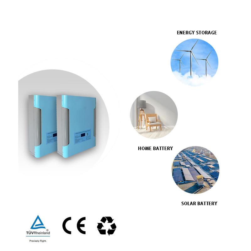 48V 200Ah LiFePO4 Power Wall Battery | Optional GPRS | Solar Battery | Backup Power| Sky Blue