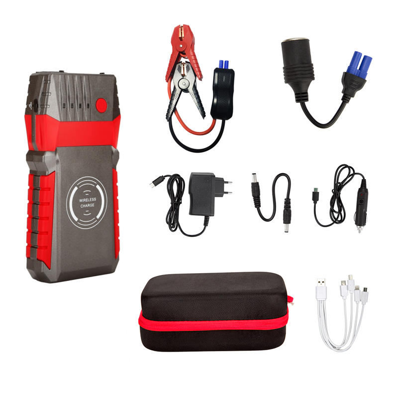 UFO 14.8V Portable Car Jump Starter 600 Amps Peak Lithium Battery Pack, Built-in Waterproof Car Battery booster