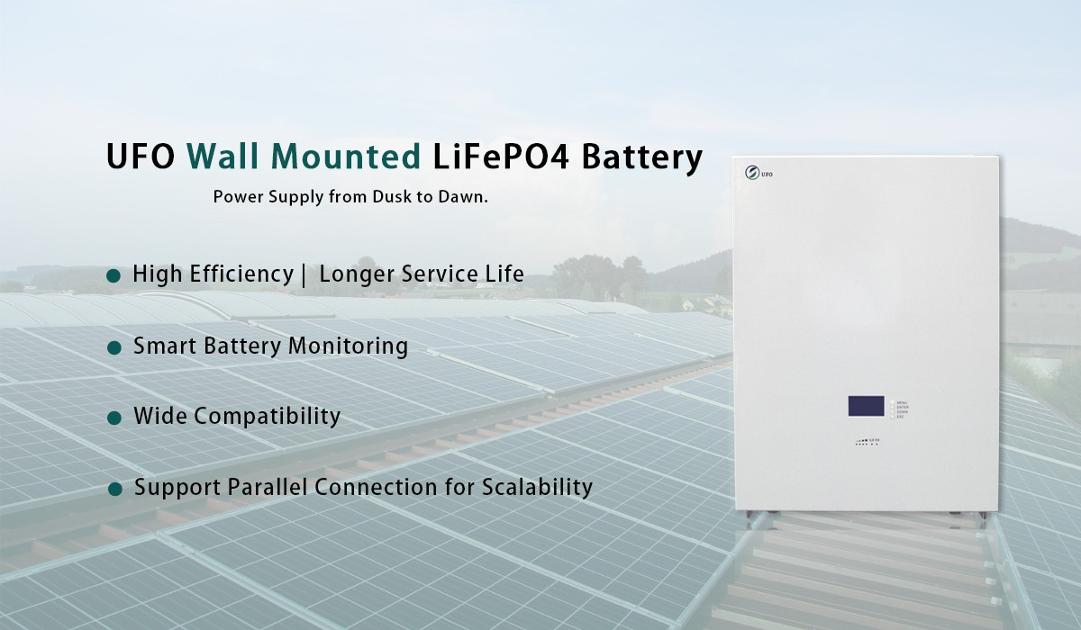 UFO 48V Snow White Solar LiFePO4 Battery
