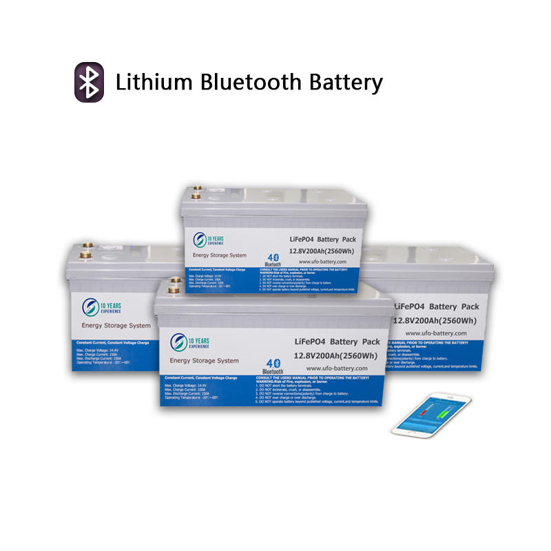 UFO Rechargeable 12V LiFePO4 Battery Bluetooth Lithium Battery