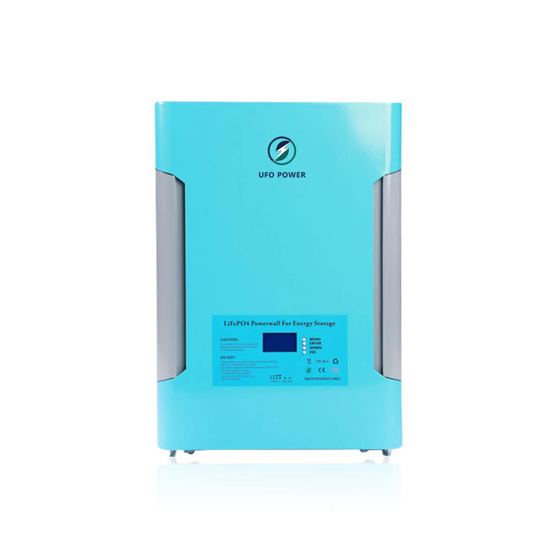 Sky Blue | UFO Wall Mounted Solar Battery | LiFePO4 Battery | 48V 100Ah 200Ah | Commercial & Residential Solar Storage