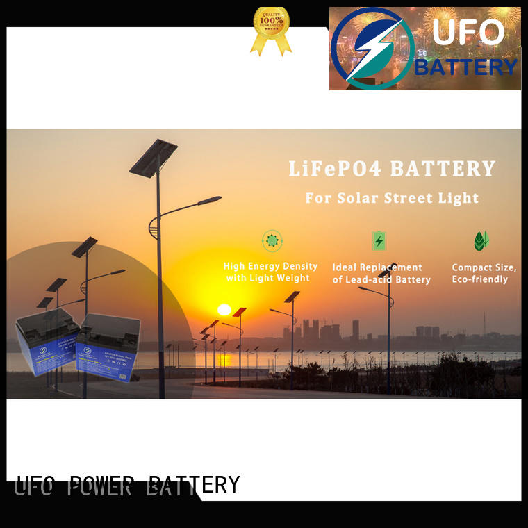 UFO cart 12 volt lifepo4 battery manufacturers for solar system Gel battery replacement